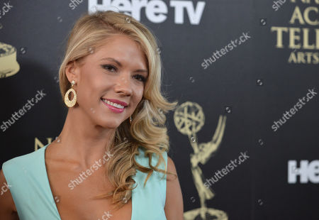 Suzanne Quast arrives at the 41st annual Daytime Emmy Awards at the Beverly Hilton Hotel, in Beverly Hills, Calif
