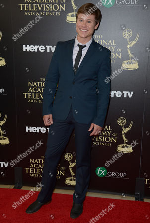 Guy Wilson arrives at the 41st annual Daytime Emmy Awards at the Beverly Hilton Hotel, in Beverly Hills, Calif