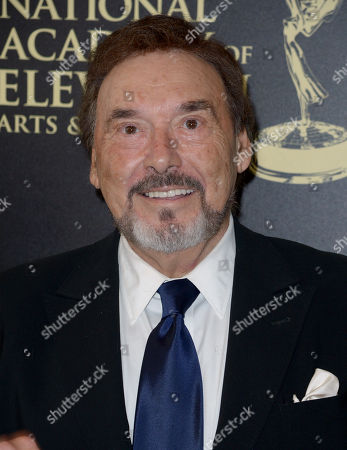 Stock Photo of Joseph Mascolo arrives at the 41st annual Daytime Emmy Awards at the Beverly Hilton Hotel, in Beverly Hills, Calif