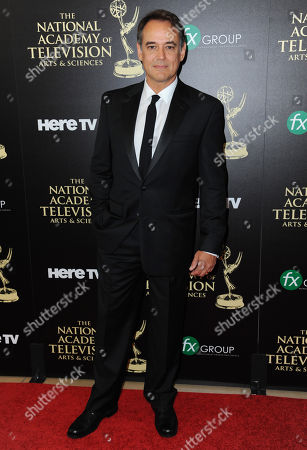 Jon Lindstrom arrives at the 41st annual Daytime Emmy Awards at the Beverly Hilton Hotel, in Beverly Hills, Calif