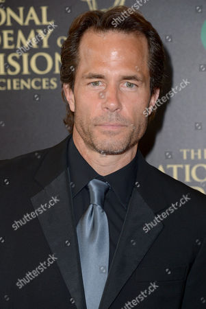 Shawn Christian arrives at the 41st annual Daytime Emmy Awards at the Beverly Hilton Hotel, in Beverly Hills, Calif