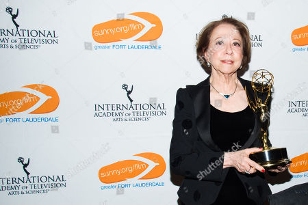 Stock Image of Fernanda Montenegro is seen as the Greater Fort Lauderdale Convention & Visitors Bureau rolls out the red carpet for film and entertainment movers and shakers at the 41st International Emmy Awards Gala, on in New York. This is the third year the GFLCVB has partnered with the International Emmy World Television Festival to highlight Greater Fort Lauderdale as an ideal location for film, music, arts and culture