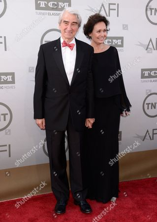 Sam Waterston, left, and Lynn Louisa Woodruff arrive at the 42nd AFI Lifetime Achievement Award Tribute Gala at the Dolby Theatre, in Los Angeles