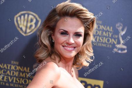 Kelly Sullivan arrives at the 42nd annual Daytime Emmy Awards at Warner Bros. Studios, in Burbank, Calif