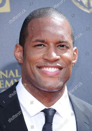 Lawrence Saint-Victor arrives at the 42nd annual Daytime Emmy Awards at Warner Bros. Studios, in Burbank, Calif