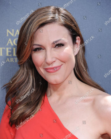 Stock Picture of Thea Andrews arrives at the 42nd annual Daytime Emmy Awards at Warner Bros. Studios, in Burbank, Calif