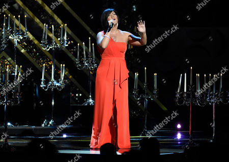 Tessanne Chin performs at the 42nd annual Daytime Emmy Awards at Warner Bros. Studios, in Burbank, Calif