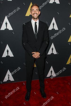 """Henry Hughes winner of the Gold medal in the Narrative category for """"Day One"""" attends the 42nd Student Academy Awards Ceremony at the Samuel Goldwyn Theater on in Los Angeles"""