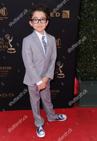 Nicolas Bechtel arrives at the 43rd annual Daytime Emmy Awards at the Westin Bonaventure Hotel, in Los Angeles