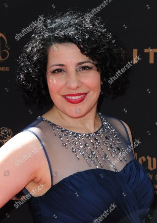 Julie Garnye arrives at the 43rd annual Daytime Emmy Awards at the Westin Bonaventure Hotel, in Los Angeles