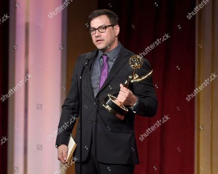 Tyler Christopher accepts the award for outstanding lead actor for â?oeGeneral Hospitalâ?? at the 43rd annual Daytime Emmy Awards at the Westin Bonaventure Hotel, in Los Angeles