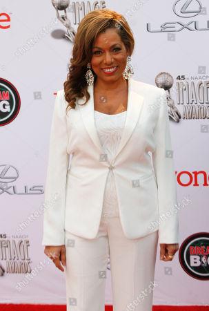 Rolonda Watts arrives at the 45th NAACP Image Awards at the Pasadena Civic Auditorium, in Pasadena, Calif