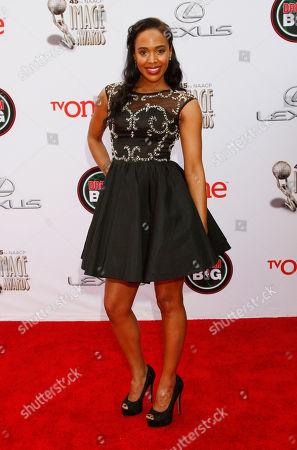 Shvona Lavette arrives at the 45th NAACP Image Awards at the Pasadena Civic Auditorium, in Pasadena, Calif