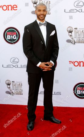 Aaron D. Spears arrives at the 45th NAACP Image Awards at the Pasadena Civic Auditorium, in Pasadena, Calif