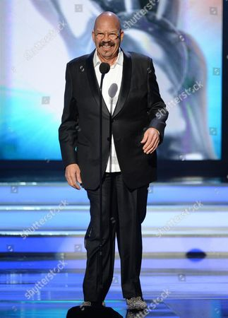 Tom Joyner speaks on stage at the 47th NAACP Image Awards at the Pasadena Civic Auditorium, in Pasadena, Calif