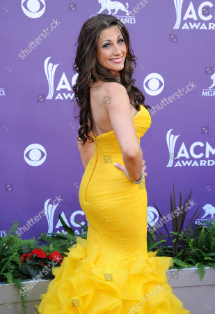 Stock Picture of Danielle Peck arrives at the 48th Annual Academy of Country Music Awards at the MGM Grand Garden Arena in Las Vegas on