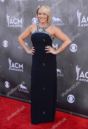 Gwen Sebastian arrives at the 49th annual Academy of Country Music Awards at the MGM Grand Garden Arena, in Las Vegas