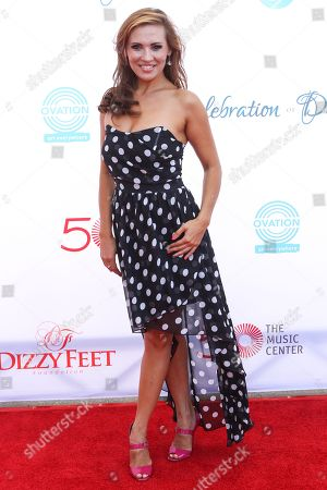 Anya Garnis attends the 4th Annual Celebration of Dance Gala at the Dorothy Chandler Pavilion on in Los Angeles, Calif