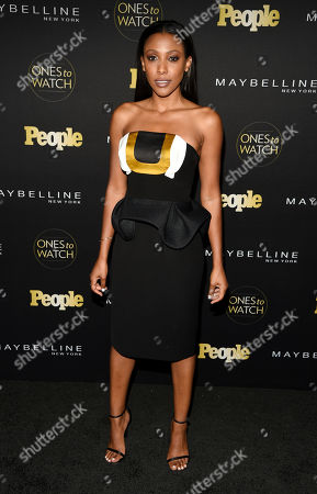 """Actress Meagan Holder poses at People magazine's """"Ones to Watch"""" event, in West Hollywood, Calif"""