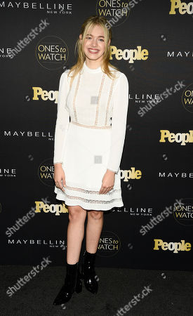 """Actress Sadie Calvano poses at People magazine's """"Ones to Watch"""" event, in West Hollywood, Calif"""