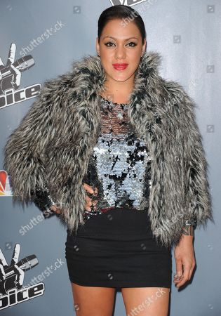 """Jordis Unga arrives at the 4th season premiere screening of """"The Voice"""" at the TCL Theatre on in Los Angeles"""