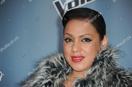 """Stock Photo of Jordis Unga arrives at the 4th season premiere screening of """"The Voice"""" at the TCL Theatre on in Los Angeles"""