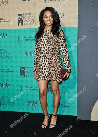Stock Image of Alesha Renee arrives at the 5th Annual ESSENCE Black Women in Music Event at 1 OAK, in West Hollywood, Calif