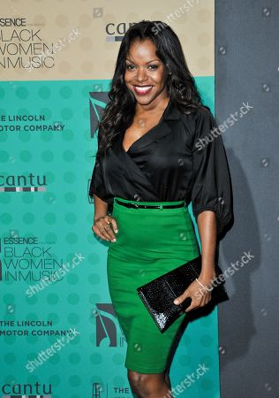 Nadine Ellis arrives at the 5th Annual ESSENCE Black Women in Music Event at 1 OAK, in West Hollywood, Calif