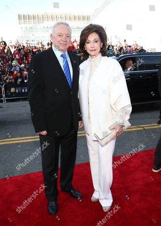 Stock Picture of Jerry Jones, left, and Eugenia Jones arrive at the 5th annual NFL Honors at the Bill Graham Civic Auditorium, in San Francisco