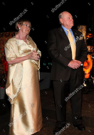 SEPTEMBER 16: (L-R) Kathryn Joosten and Academy Governor Conrad Bachmann attends the 63rd Primetime Emmy Awards Performers Nominee Reception at Spectra by Wolfgang Puck at the Pacific Design Center on in Los Angeles, California