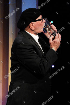 Stock Picture of Richard Halsey accepts the career achievement award at the 64th Annual ACE Eddie Awards,, in Beverly Hills, Calif