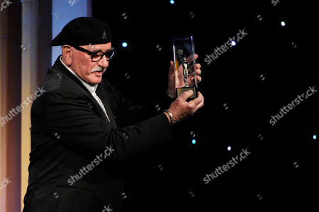 Stock Photo of Richard Halsey accepts the career achievement award at the 64th Annual ACE Eddie Awards,, in Beverly Hills, Calif