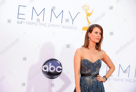 Actress Sarah Paulson arrives at the 64th Primetime Emmy Awards at the Nokia Theatre, in Los Angeles. Paulson is nominated for best Supporting Actress in a Miniseries or a Movie for her role as Nicolle Wallace in Game Change.â
