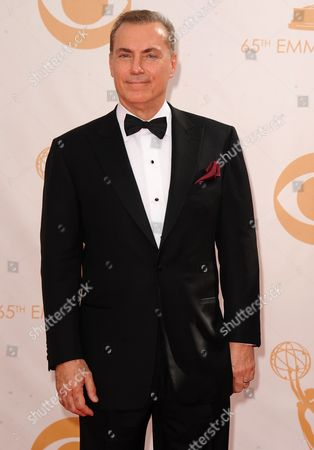 Al Sapienza arrives at the 65th Primetime Emmy Awards at Nokia Theatre, in Los Angeles