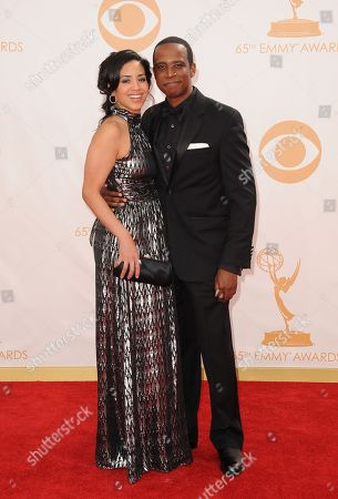 Stock Picture of Jill Knox and Keith Powell arrive at the 65th Primetime Emmy Awards at Nokia Theatre, in Los Angeles