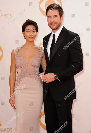 Shasi Wells and Dylan McDermott arrive at the 65th Primetime Emmy Awards at Nokia Theatre, in Los Angeles