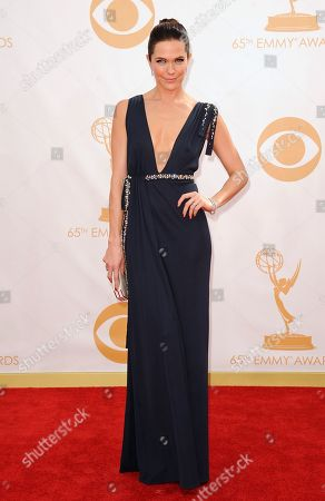 Bonnie Bentley arrives at the 65th Primetime Emmy Awards at Nokia Theatre, in Los Angeles