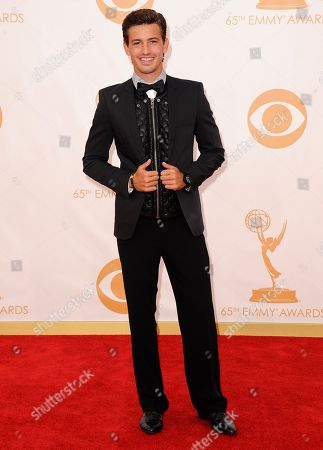 Asher Monroe arrives at the 65th Primetime Emmy Awards at Nokia Theatre, in Los Angeles