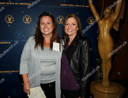 From left, nominees Beth McCarthy-Miller and Gail Mancuso attend the Academy of Television Arts & Sciences Directors Nominee Reception,, at the Directors Guild of America in Los Angeles, Calif