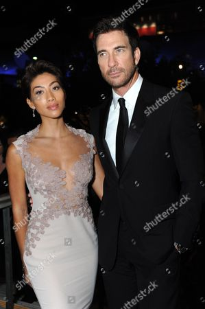 From left, Shasi Wells and Dylan McDermott are seen at the Governors Ball at the 65th Primetime Emmy Awards at Nokia Theatre, in Los Angeles