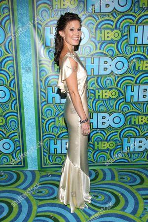 Actress Bonnie Bentley arrives at the HBO Primetime Emmy's After Party at The Plaza at the Pacific Design Center on in Los Angeles