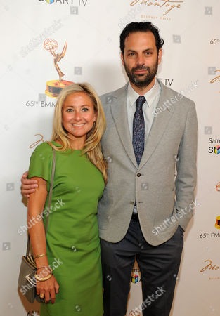 Stock Image of From left, Caroline Sherman and producer Emile Sherman attend the Academy of Television Arts & Sciences Producer's Nominee Reception,, at the Montage Beverly Hills in Beverly Hills, Calif