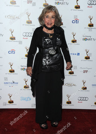 Stock Image of June Foray arrives at the 65th Primetime Emmy Awards Performers Nominee Reception, on at Spectra by Wolfgang Puck at the Pacific Design Center, in West Hollywood, Calif