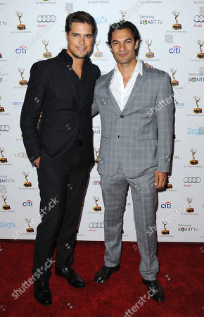 From left, Diogo Morgado and Darwin Shaw arrive at the 65th Primetime Emmy Awards Performers Nominee Reception, on at Spectra by Wolfgang Puck at the Pacific Design Center, in West Hollywood, Calif