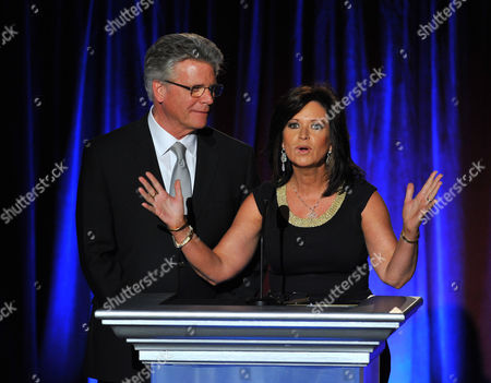 Chuck Henry and Colleen Williams present on stage on stage at the Television Academy's 66th Los Angeles Area Emmy Awards on at The Leonard H. Goldenson Theater in the NoHo Arts District in Los Angeles