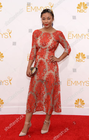 Stock Picture of Zoe Soul arrives at the 66th Primetime Emmy Awards at the Nokia Theatre L.A. Live, in Los Angeles