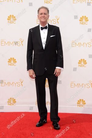 Stock Image of Allan Havey arrives at the 66th Primetime Emmy Awards at the Nokia Theatre L.A. Live, in Los Angeles