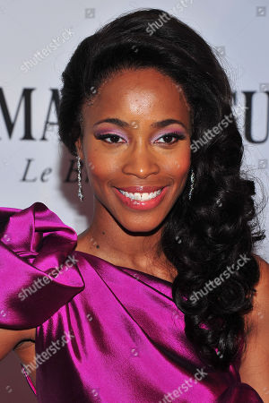 Valisia LeKae arrives on the red carpet at the 67th Annual Tony Awards, on in New York