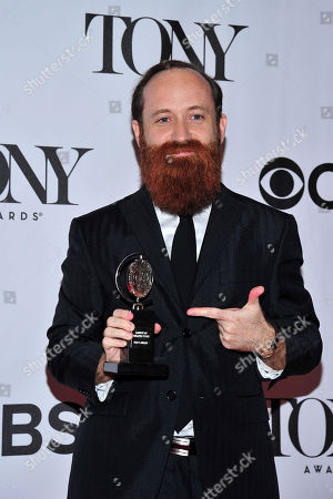 Leon Rothenberg arrives in the press room at the 67th Annual Tony Awards, on in New York