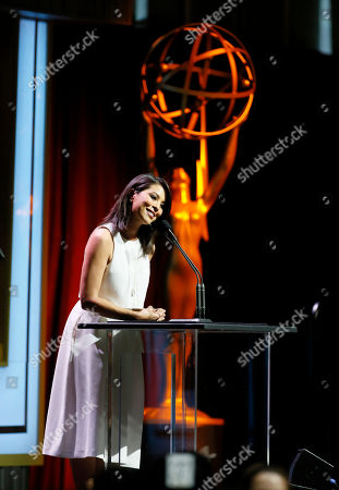 Cher Calvin speaks at the 67th Los Angeles Area Emmy Awards at the Skirball Cultural Center on